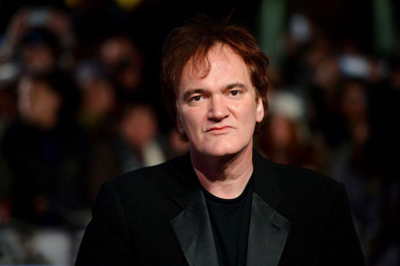 Quentin Tarantino til præmiere på Unchained Django i London. AFP PHOTO/Leon NEAL