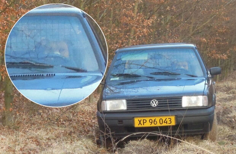 En kondiløber så Anders' bil parkeret ved siden af en skovvej. Med hunden Rico på forsædet.