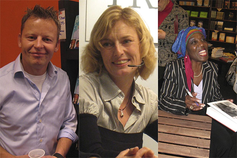 Bubber, Luna Christofi og Etta Cameron er alle enige - bogmessen er fantastisk.