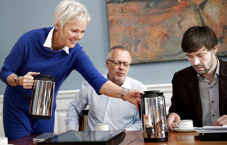 Fra venstre Karen Jespersen (V), Eigil Andersen (SF) og Jens Joel (S) (th).