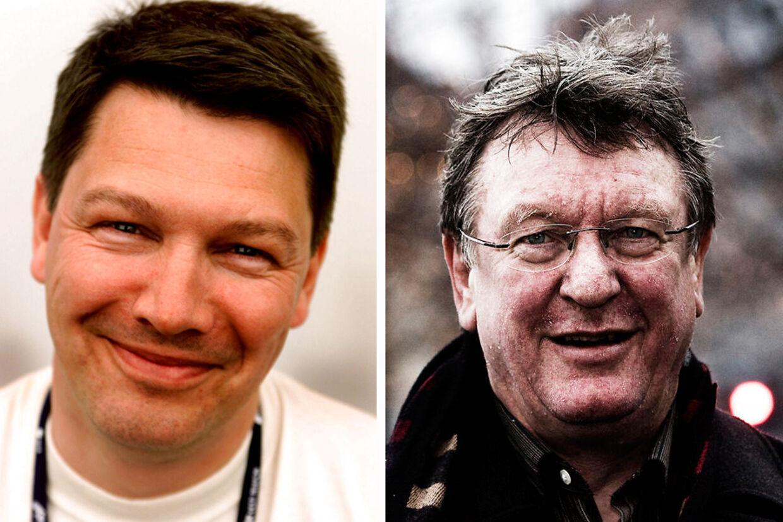 Morten Carlsson (tv), der søndag blev dræbt i en soloulykke, og Hans Otto Bisgaard var gamle venner.