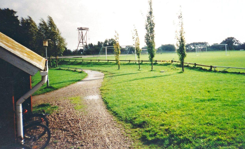 Banerne ved idrætsefterskolen i Oure, hvor Kasper Schmeichel for alvor fik smag for fodboldgerningen