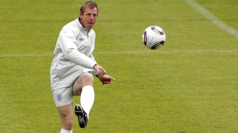 Stuart Pearce har blandt andet også været U21-landsholdstræner for England. Her ses han under træningen i Fredericia ved EM i Danmark i 2011.