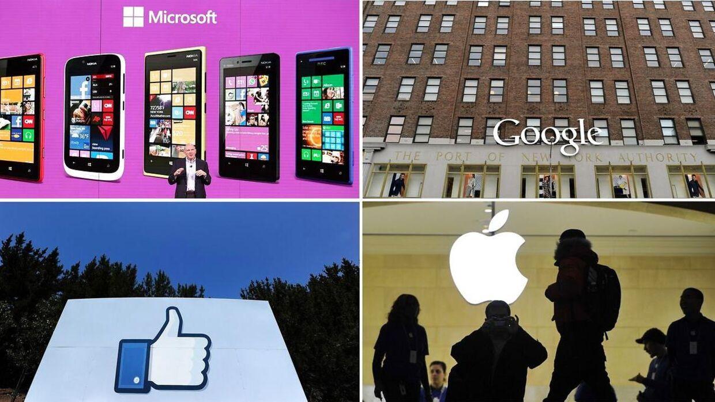 Microsoft, Google, Facebook og Apple har alle gennem flere år givet de amerikanske efterretningstjenester fri adgang til alle brugeres data. Europa er rasende over afsløringerne.