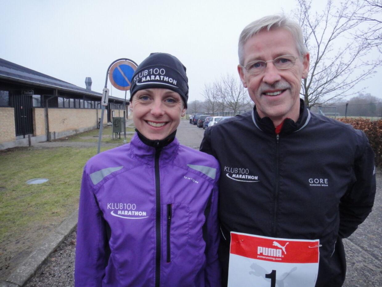 Birgitte har løbet 176 maratonløb sammen med sin far, Anders Munch Madsen, der 13. november jubilerer med nr. 500 i Rudersdal Marathon.
