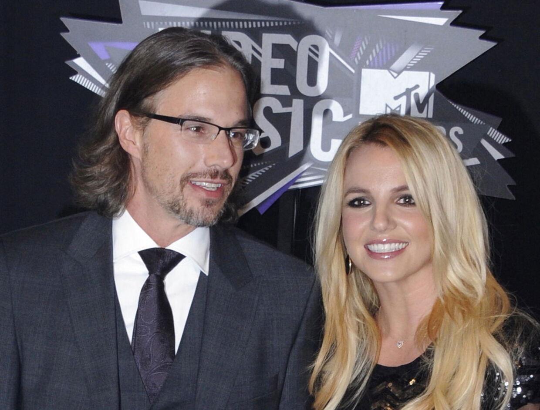 Britney Spears og den nu tidligere forlovede Jason Chatwick.