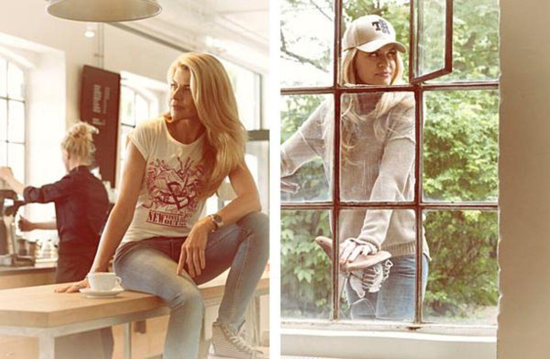 Den 38-årige skuespillerinde, Mille Dinesen, springer ud som model for det danske brand The Baand. Foto: The Baand