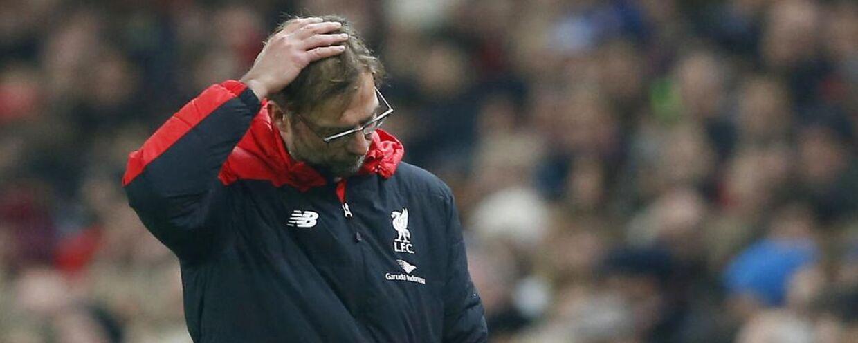 Normalt storsmilende Jürgen Klopp har fået noget at gruble over i Liverpool.