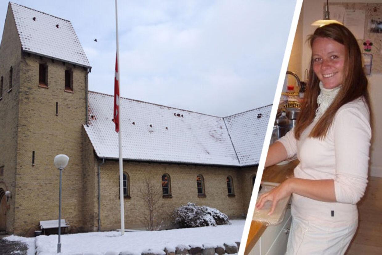 Heidi Abildskov blev mandag begravet i Virum Kirke.