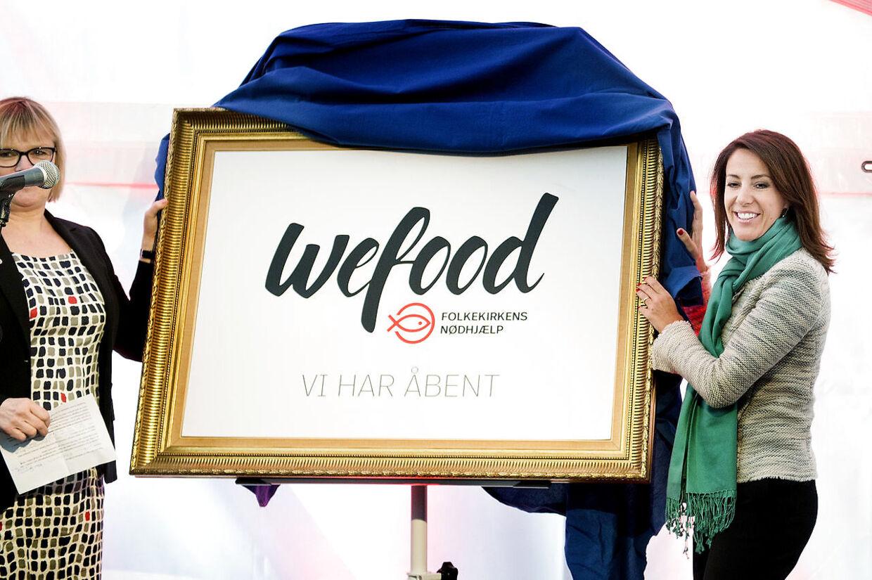 Prinsesse Marie og Fødevareminister Eva Kjer Hansen åbner Folkekirkens Nødhjælps butik WeFood.