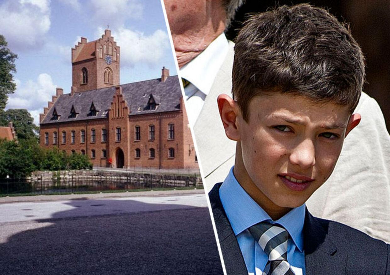 Prins Nikolai - her ved sin konfirmation i maj 2013 - er bare 14 år gammel, når han begynder på Herlufsholm Kostskole.