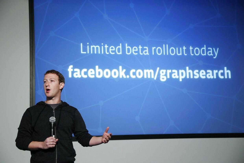 Mark Zuckerberg præsenterer Graph Search.