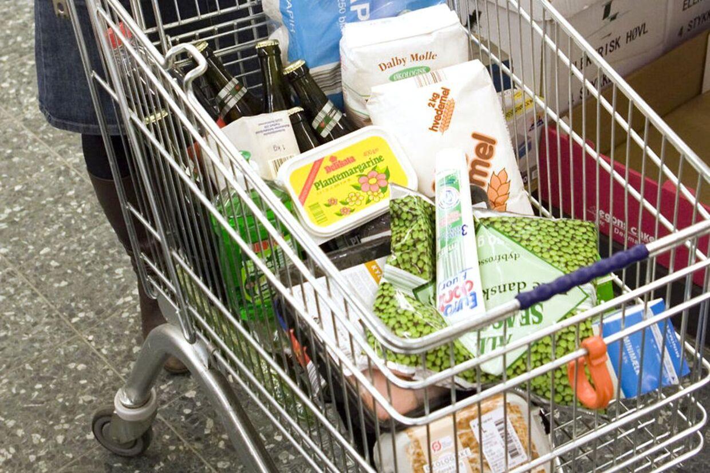Aldi discount supermarked. Arkivfoto