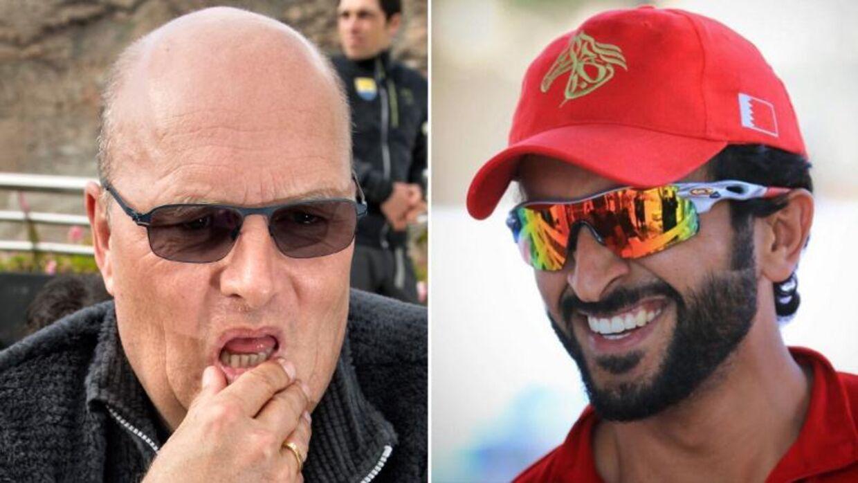 Bjarne Riis og Nasser Bin Hamad Al Khalifa (th.)