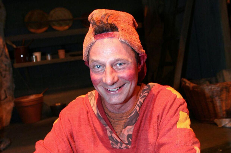 Jan Linnebjerg som de fleste børn og voksne kender ham: Som nissen Pyrus. (Arkivfoto)
