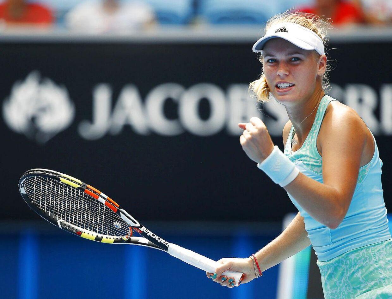 Caroline Wozniacki er videre til anden runde ved Australian Open efter to-sæts-sejr over det amerikanske stortalent Taylor Townsend.