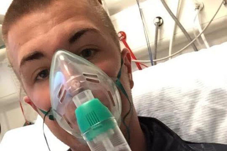 18-årige Chris Rosenberg Hansen blev indlagt med alvorlig kulilteforgiftning efter, at han røg vandpibe.