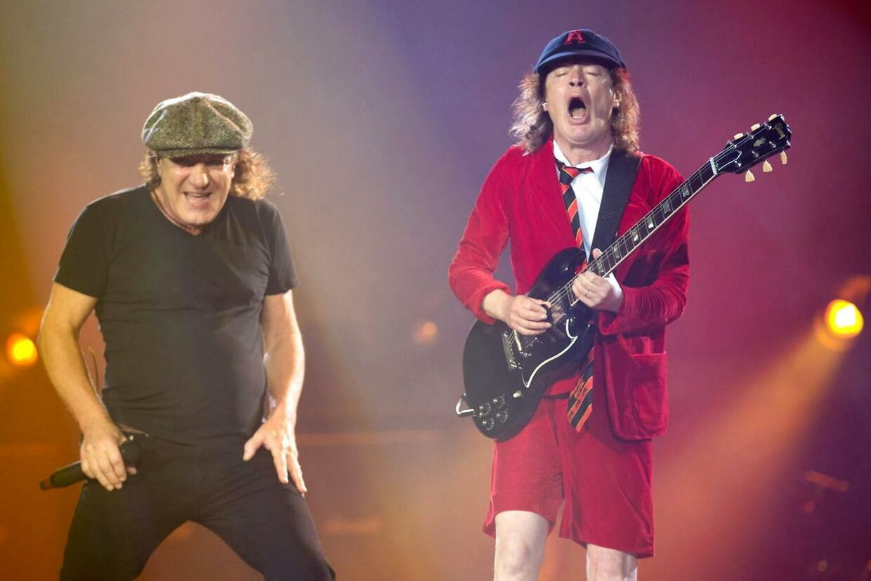 Brian Johnson og Angus Young fra AC/DC