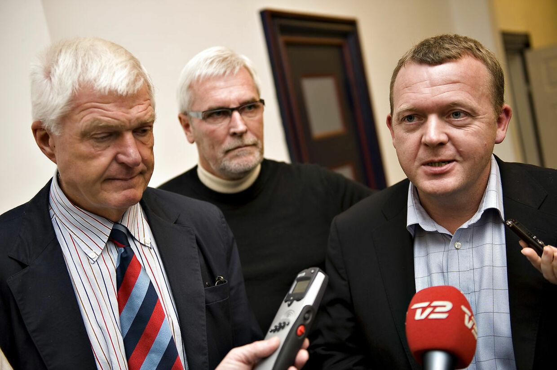 Erik Fabrin Anker Boye og Lars Lykke møde i finansministeriet