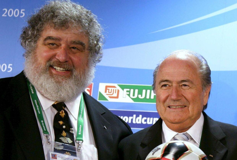Chuck Blazer sammen med den afgående FIFA-præsident Sepp Blatter