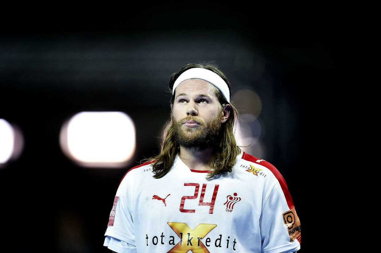 Mikkel Hansen var langt fra sit topniveau i kampen mod Frankrig.