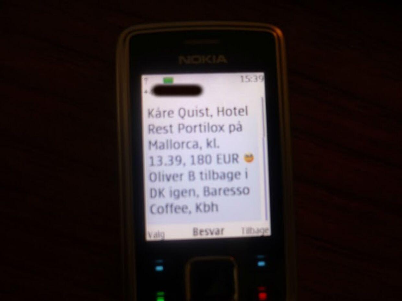 Vært på DR, Kåre Quist, fik sit kreditkort overvåget, da han i 2009 var på bryllupsrejse med sin daværende kone på Mallorca. Også modellen Oliver Bjerrehuus blev overvåget og Se og Hør modtog oplysninger om dem begge i samme sms.