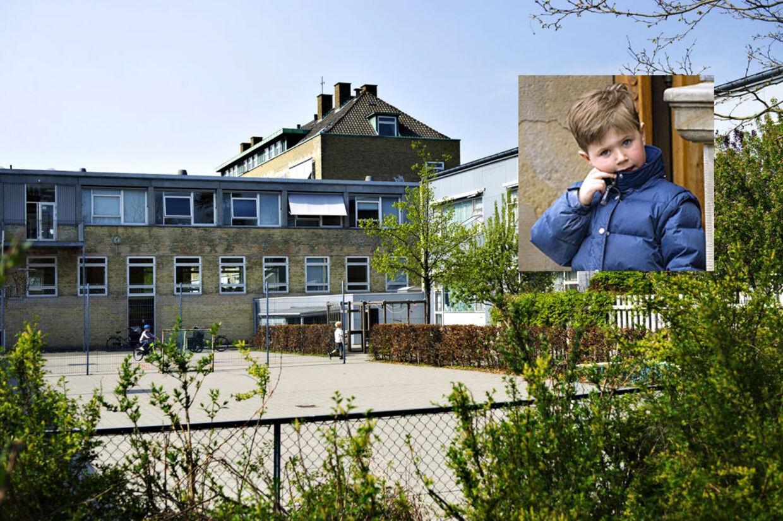 Her er Tranegårdskolen, som prins Christian starter på efter sommerferien.