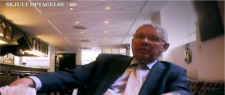 Skatterådgiver Kaj Worsøe bliver her afsløret på skjult kamera.
