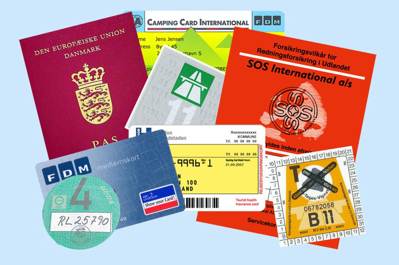 bøde for glemt kørekort