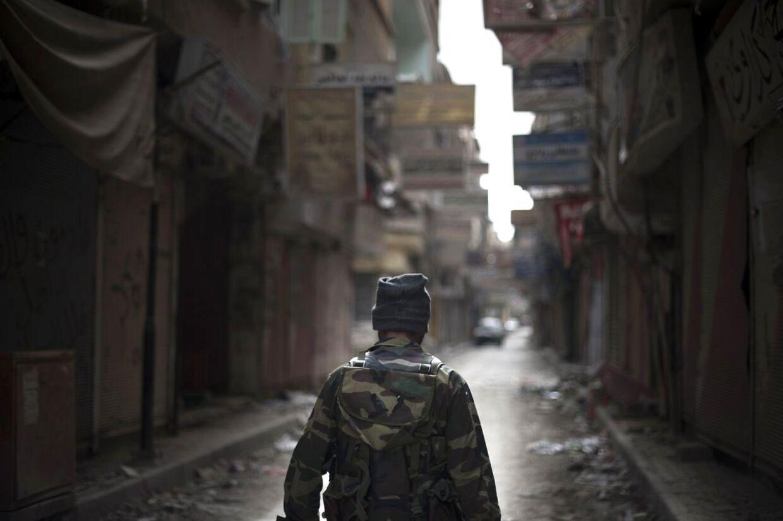 Syrisk oprører. Arkivfoto