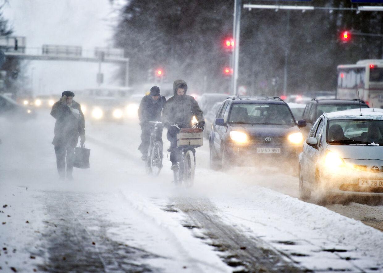 Indtil videre er det især nordjyderne, der har været sneplagede, men onsdag kommer der - måske - en kæmpe portion til sønderjyderne.