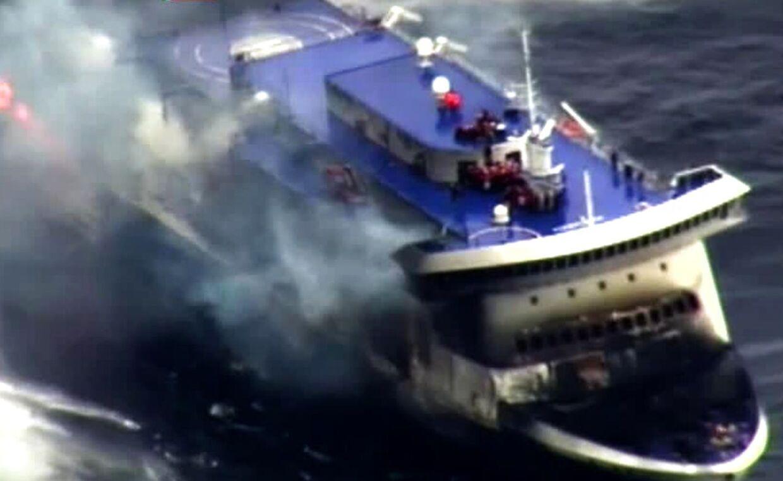 Syv personer er døde i forbindelse med færgebranden på Norman Atlantic.