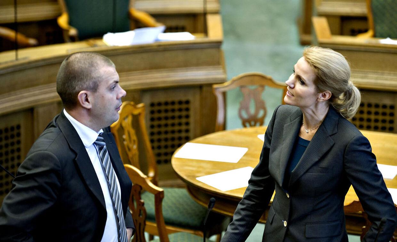 Statsminister Helle Thorning-Schmidt og finansminister Bjarne Corydon under Folketingets åbningsdebat torsdag 6. oktober 2011.