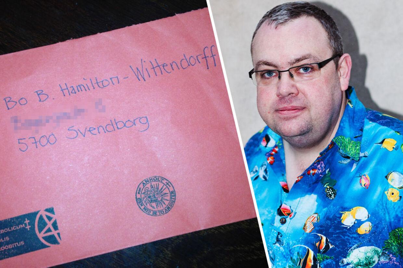 Bo Bomuld Hamilton-Wittendorf fik tilsendt et satanistisk brev.
