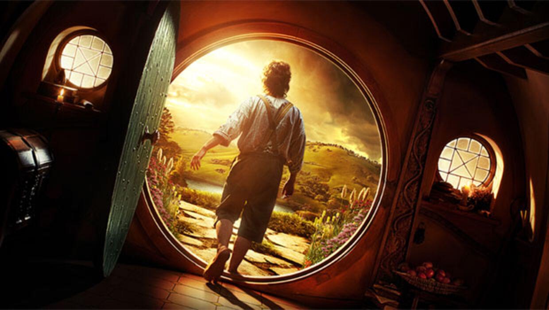 Filmplakaten for Hobbiten, som får verdenspremiere i december 2012.