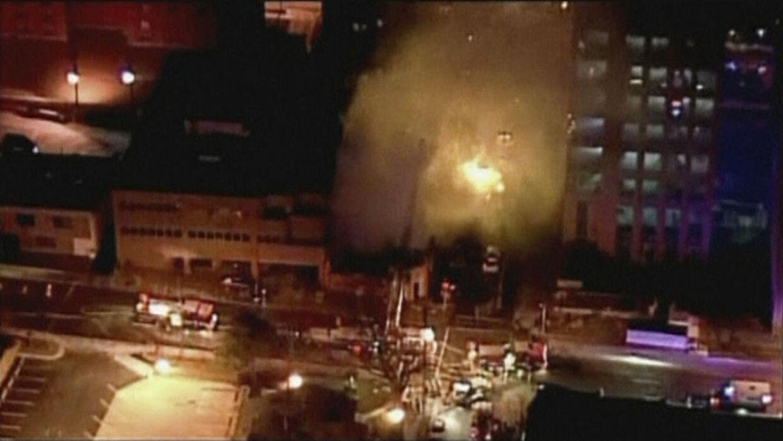 Voldsom eksplosion i Kansas City.