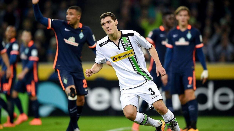 Her ses Andreas Christensen efter sin scoring til 2-0 mod Werder Bremen tidligere i februar. Efter pausen udbyggede danskeren føringen til 3-0, da han for første gang i sin seniorkarriere scorede to mål i samme kamp.