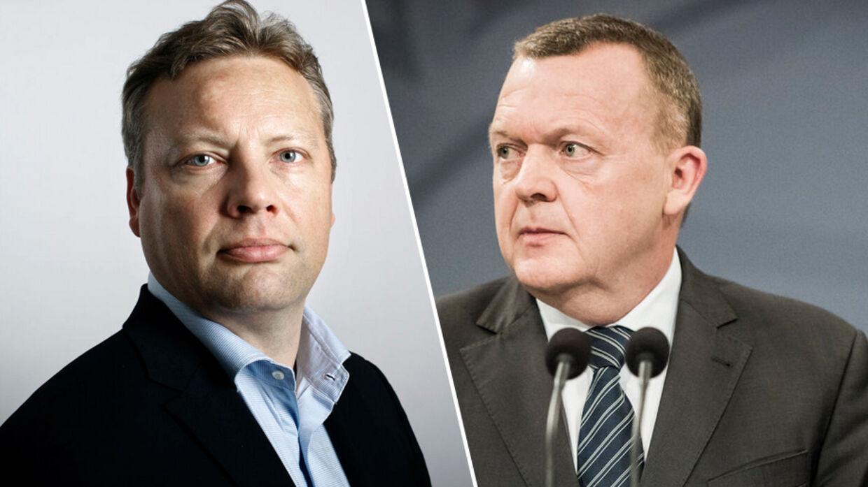 Jarl Cordua og Lars Løkke Rasmussen (V).