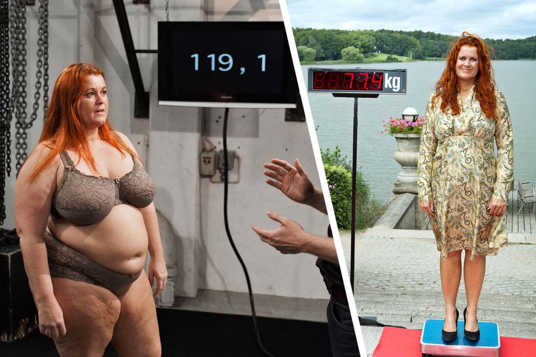 Zhashia tabte 42,5 kg. (fra 119,1 til 77,4) under det år, optagelserne varede. Nu har hun taget 24 kg. på igen.