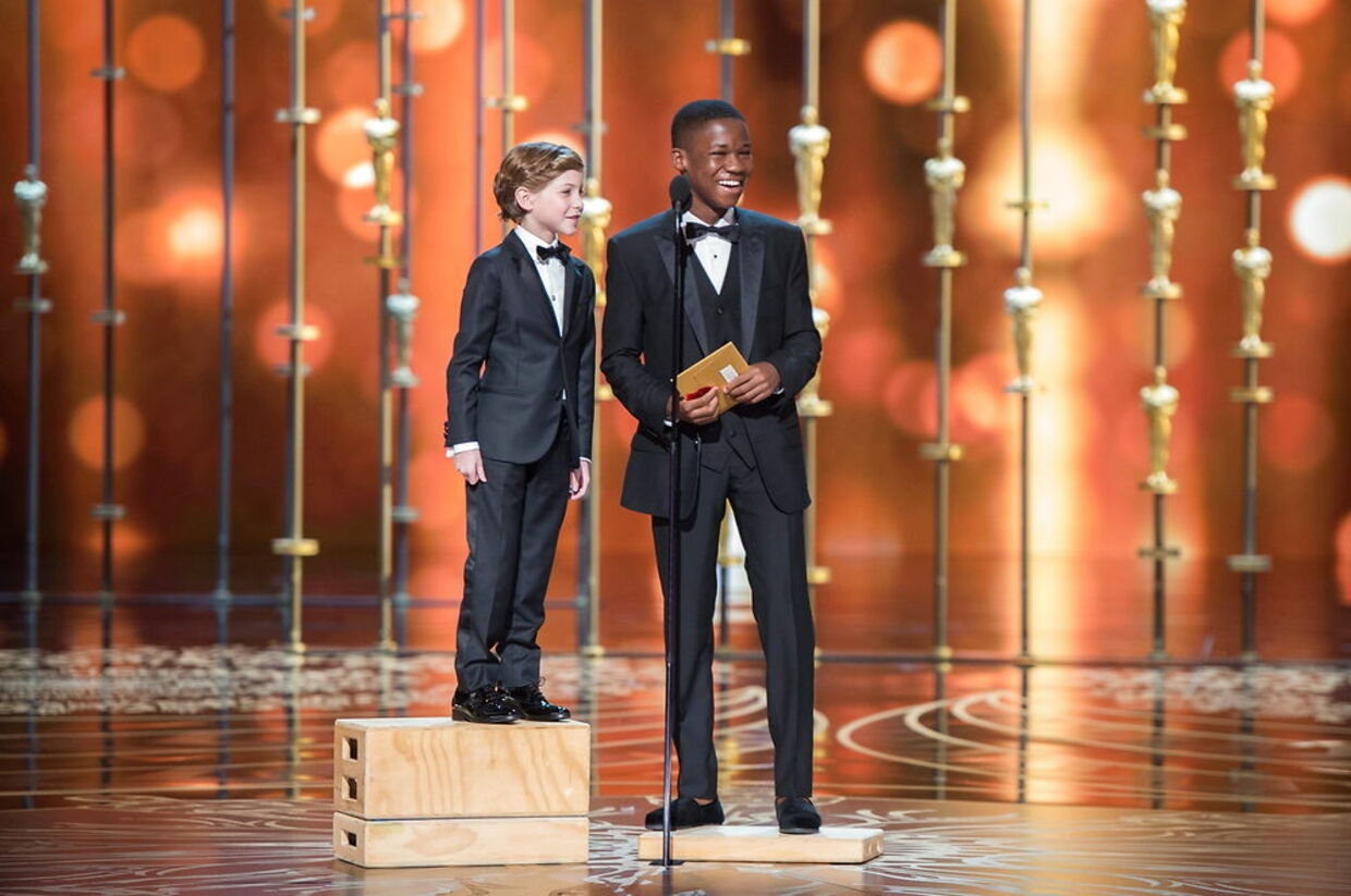 Jacob Tremblay (v) og Abraham Attah