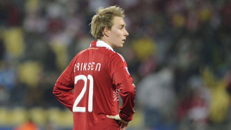En noget yngre udgave af Christian Eriksen under VM i Sydafrika i 2010
