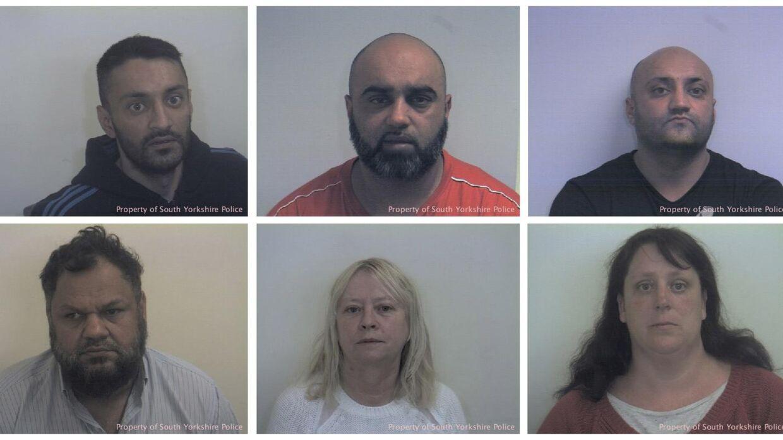 Tre brødre er blevet dømt for at have misbrugt unge piger gennem 16 år. Derudover er en mand og to kvinder dømt for medvirken til voldtægt og for at fungere som alfonser. Nu er en politimand anklaget for at have hjulpet voldtægtsbanden