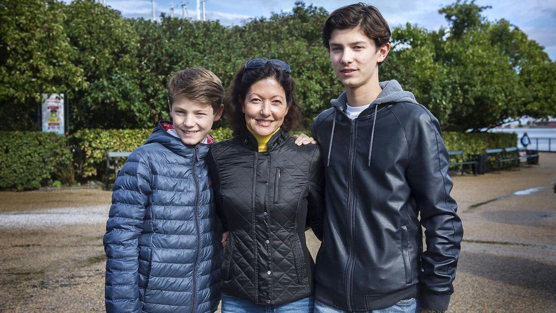 Grevinde Alexandra med sine to sønner til Ecco Walkathon i København (september 2015)