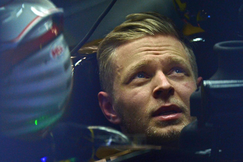 Kevin Magnussen under årets testkørsel med Renault.