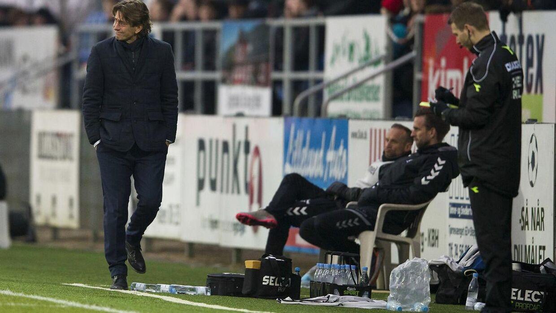 Thomas Frank var ikke glad efter nederlaget til Sønderjyske.