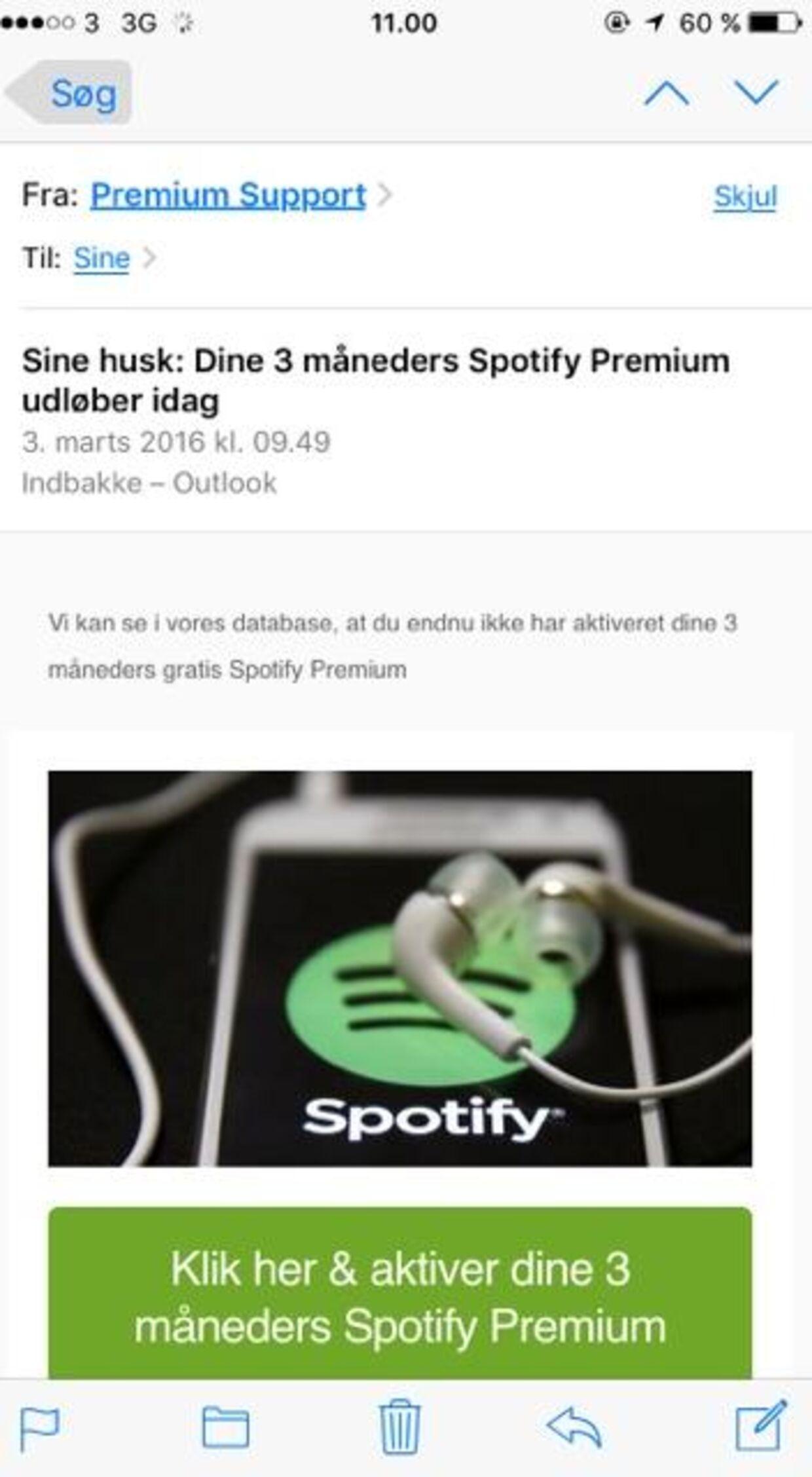 Det er mails som denne, der snyder flere danskere til at falde i abonnementsfælder.