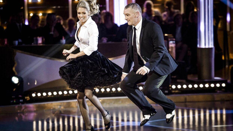 Vild med dans fredag d. 6. november 2015. John Faxe Jensen og Karina Frimodt.