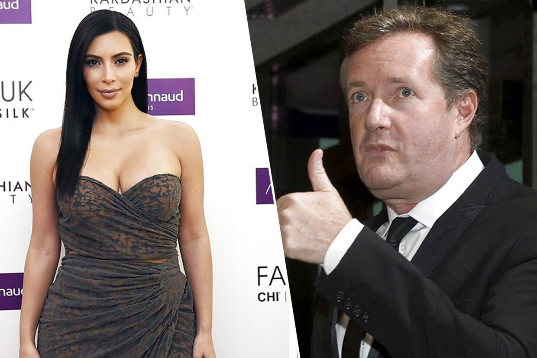 Kim Kardashian og Piers Morgan. (Foto: Loic Venance / Jonathan Ernst)