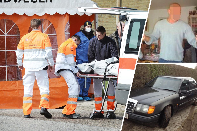 Den drabssigtede 34-årige JH (th) lejede blot et halvt døgn før, Kenneth Peder Haugstrup blev dræbt med knivstik en Mercedes. Bilen er stadigvæk beslaglagt af Fyns Politi og JH nægter sig fortsat skyldig.