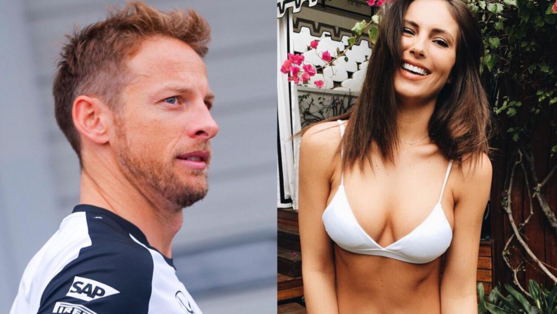 Jenson Button har fundet samme med modellen Brittny Ward.